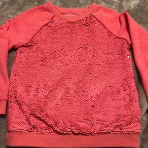 Girls two tone sweatshirt